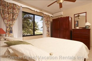 2nd Bedroom Queen-sized Bed and Ocean Views