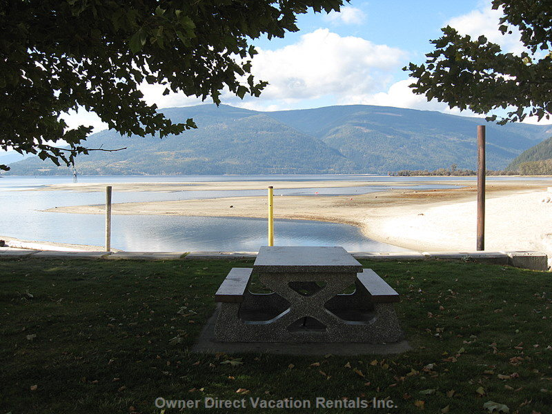 Shuswap Lake Public Beach at Sicamous