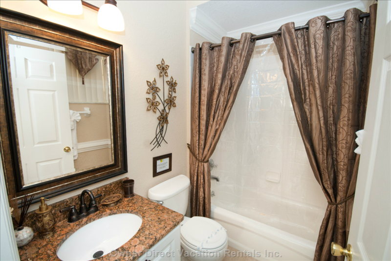 All Baths Fully Upgraded this Pool Bath is Located on the 1st Floor. Easy Access