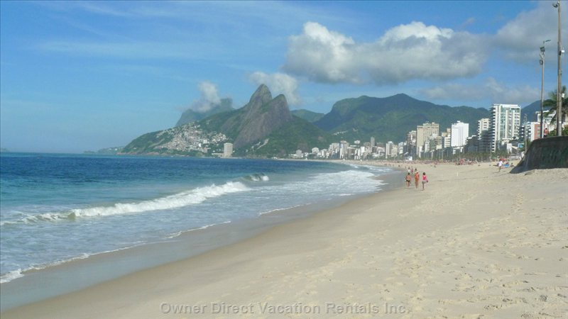 "The Beach, 10 Yards from the Loft, View on the Right, ""the Mountain of the Two Brothers (Os Dois irmãoes)"
