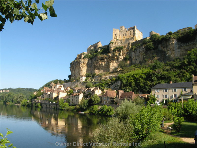 View of Beynac Castle from the River below