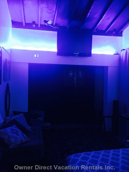 Led Lights. Tv. Cable, & Sound System. Air Conditioning       .  Celling Fan with Remote.