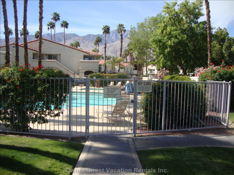 Swimming Pool is Just 20 Steps from your Patio!