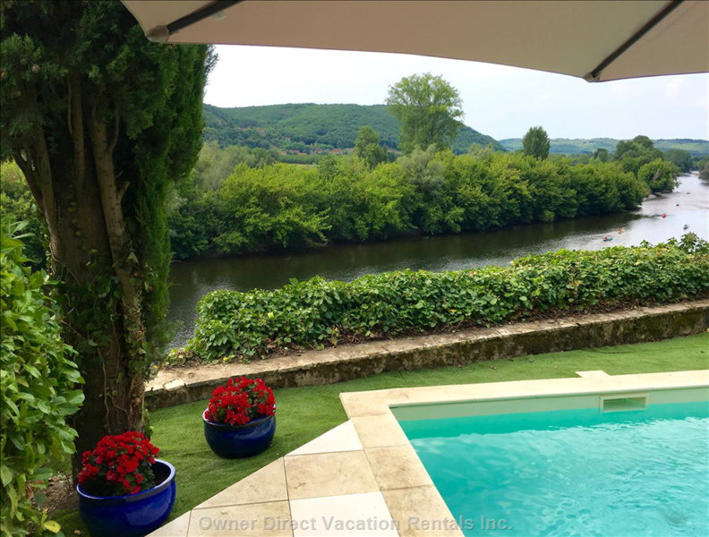 Cool off While Enjoying Panoramic Views over the Dordogne Valley