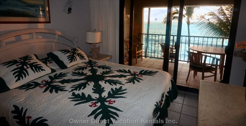 Master Bedroom, Direct Oceanfront