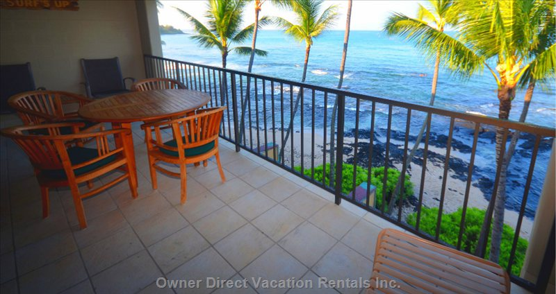 Large Lanai, for Enjoying the Ocean.