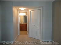 Master Bath and Walk-in Closet, Seen from Master Bedroom - Master Bath and Walk-in Closet, Seen from Master Bedroom.