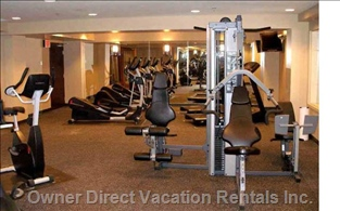 Gym is in Same Complex, down the Staris and Short Walk down the Hall - Tread Mills, Free Weights, TV, Ex Machines, and more
