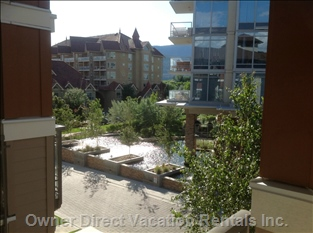 Private Patio View, Overlooking Waterworks and Cobblestone Private Drive to Waterscapes.