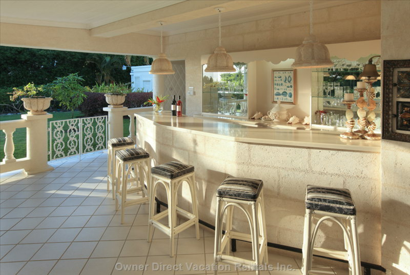 The Covered Terrace has a Wet Bar and Bbq on the Covered Terrace