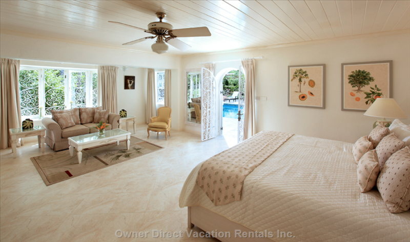 Master Bedroom Suite Opens out on to the Pool Deck