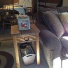 Decor Box Holds Remotes. Magazine Rack under End Table.