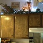 Winter Decorations above the Kitchen Cabinets.
