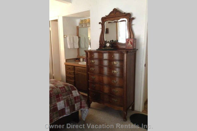 Beautiful Antique Furniture in the Master Bedroom.