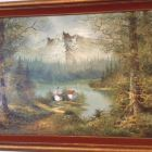 Beautiful Winter Scene on Wall in Dining Area