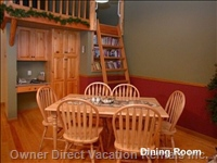 Dining Room Can Seat up to 9