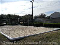 Volleyball Court behind the House