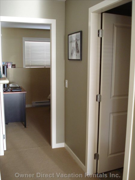 Hallway Adjoining Bedroom and Bathroom
