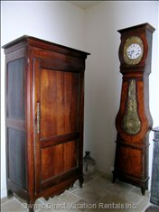Antique Cupboard and Pendulum