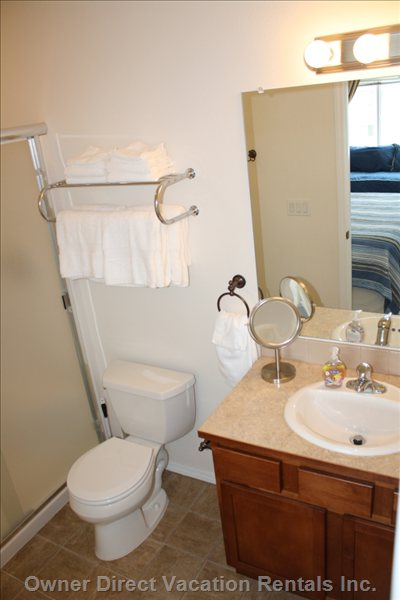 Two Bathrooms with Linens