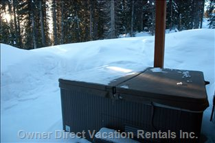 Hottub - outside Lower Level Door, which is Also Access to Criss Cross for Ski in & out