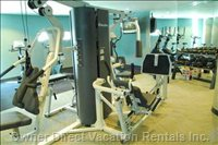 Gym has Free Weights, Universal Gym, Cardio Equipment, TV'S