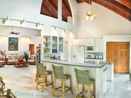 Completely Modern Kitchen and many Dining Areas