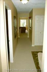 A View down the Hallway to the Front Living Room