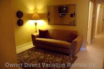 Family Room ( V.c.r. and Second T.v.)  Pull out Double Couch
