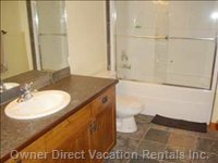 Full Bathrooms with Shower and Tub.