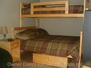 Twin over Double Bunk in Second Bedroom.