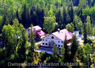 Aerial View on  Chalet and Lodge