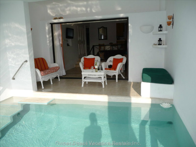 Private Plunge Pool with Patio - Patio Doors Fold into the Walls for Indoor/Outdoor Living Space