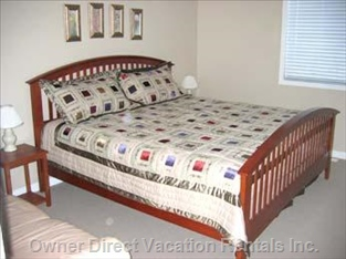 King Bed in the Master Bedroom.