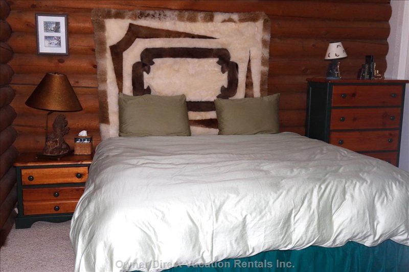 Upstairs King Bedroom has Beautiful Garden and Bald Mountain Views, Quiet, Privacy