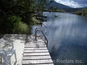 Take a Dip from our Wharf into a Great Swimming Hole