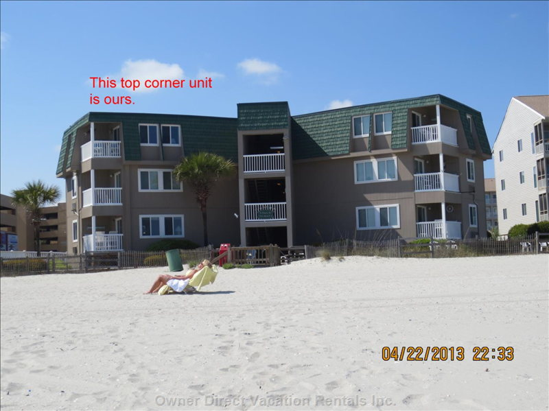View of our Building from the Beach