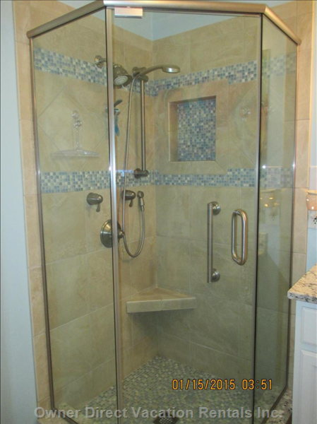 Shower in Ensuite Bathroom