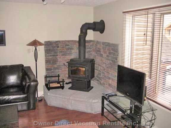 Warm your Feet by the Rustic Wood Burning Stove!!!
