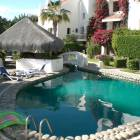 Villas Baja Heated Swimming Pool - this Shot is Showing the Deep End of the Pool and the Covered Palapa that Bisecs the Two Parts of the Pool