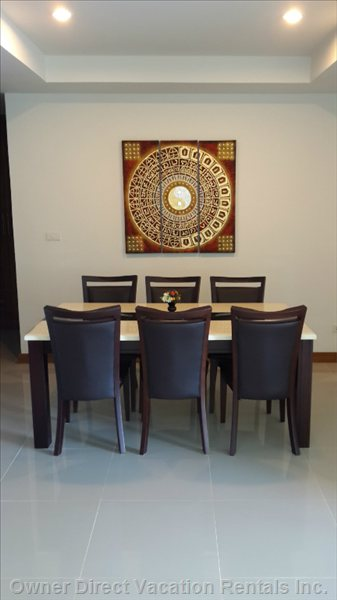 Dinning Table for 6 Person.