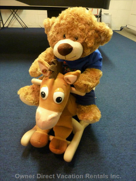 For our Very Young Visitors, we Have Bullseye, our Toy Story Rocking Horse
