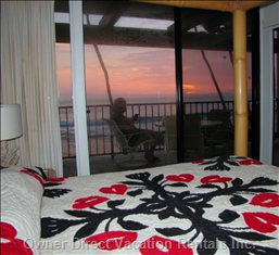 Sunset from Master Bedroom.
