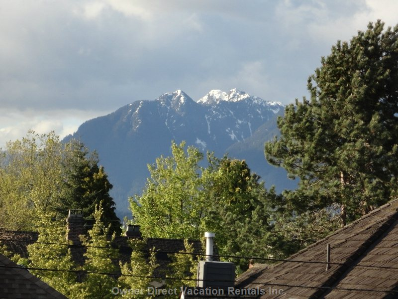 View of North Shore Mountains from Townhome