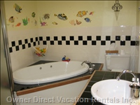 Master Bathroom with Jacuzzi and Shower