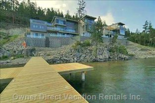 Exterior View from Okanagan Lake Private Dock