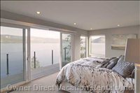 Master Bedroom with Private Deck; King Bed