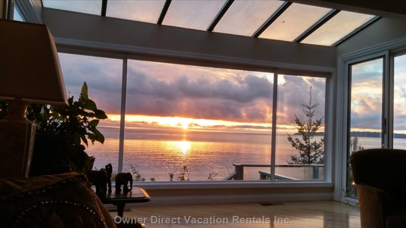 Unobstructed View from Living Room - Sunrise
