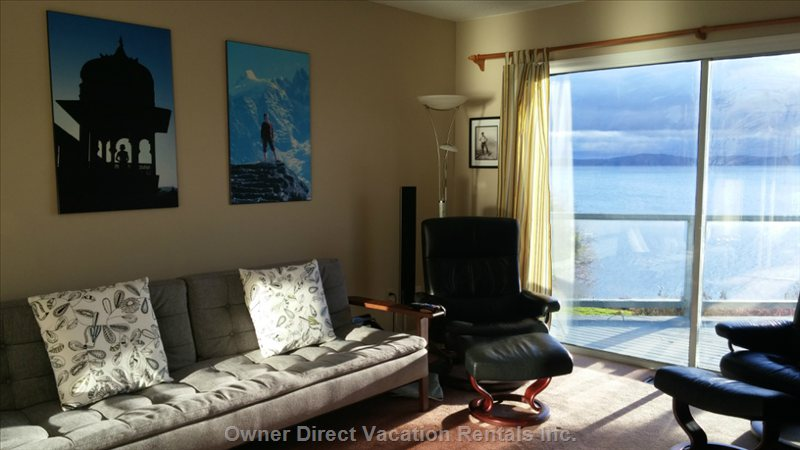 Den - T.V. Room with Outdoor Patio and Unobstructed Ocean Views