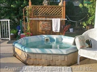 Hot Tub on Large Deck over Looking Lake -privacy with a View